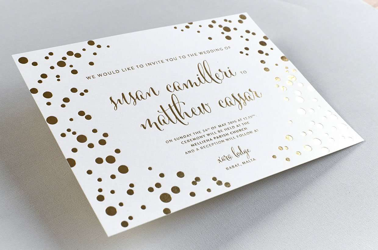 Gold Foil Wedding Invitation 2
