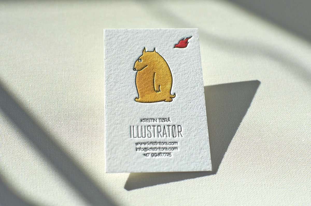 Hand Painted Business Card Elegante Press