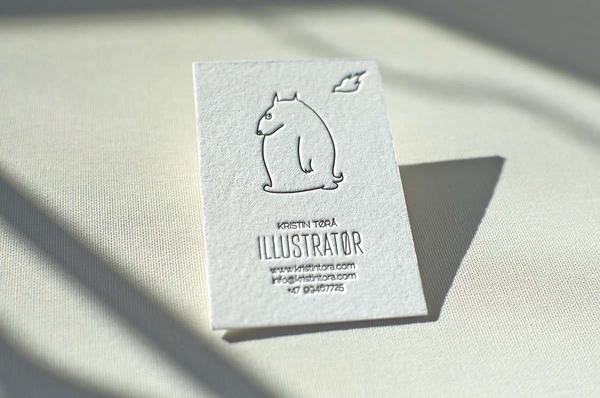 Hand painted business card elegante press for How to make a business card in illustrator