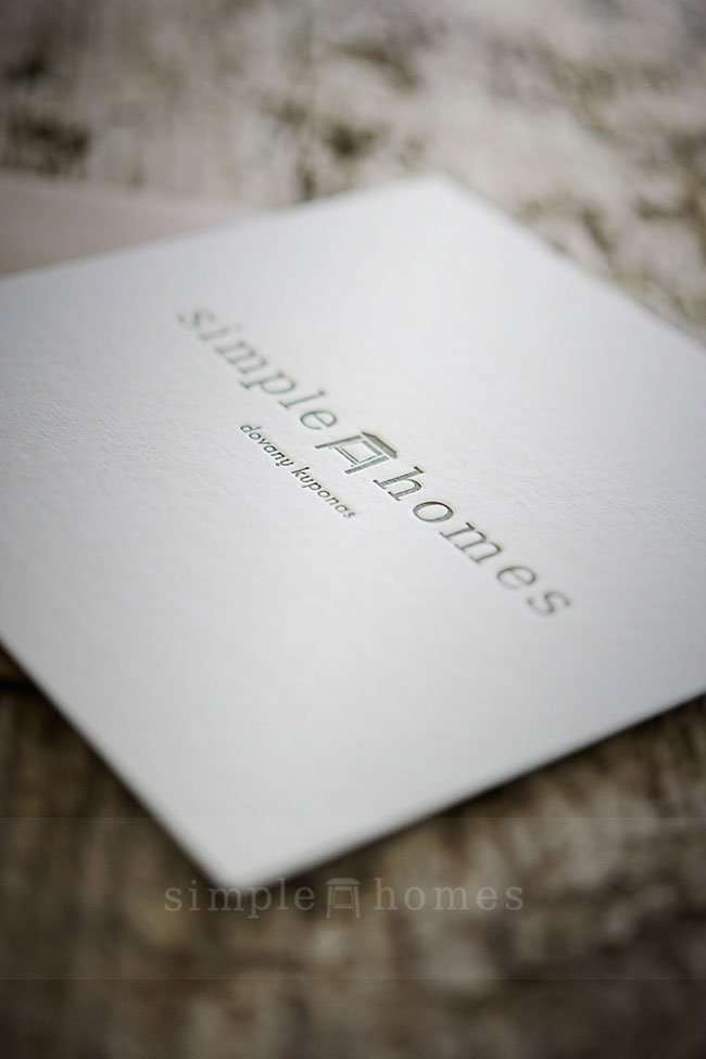 Address Wedding Gift Card Envelope : Letterpress gift coupon Elegante Press