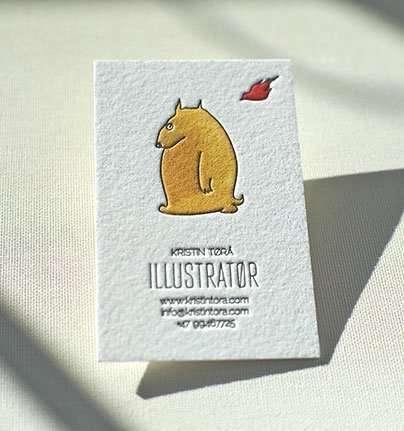 Hand Painted Business Card | Elegante Press