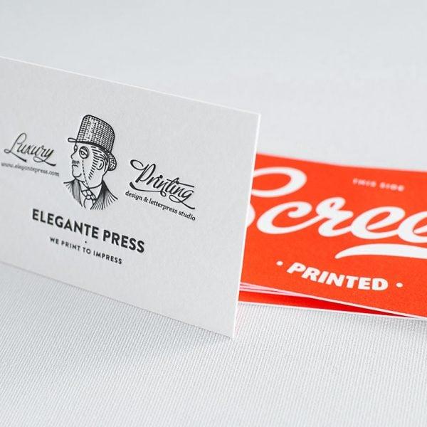 Letterpress business cards sample pack – Business Card Sample