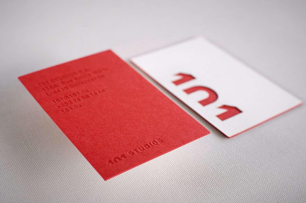Laser Cut Duplexed Letterpress Business Cards | ELEGANTE PRESS ...