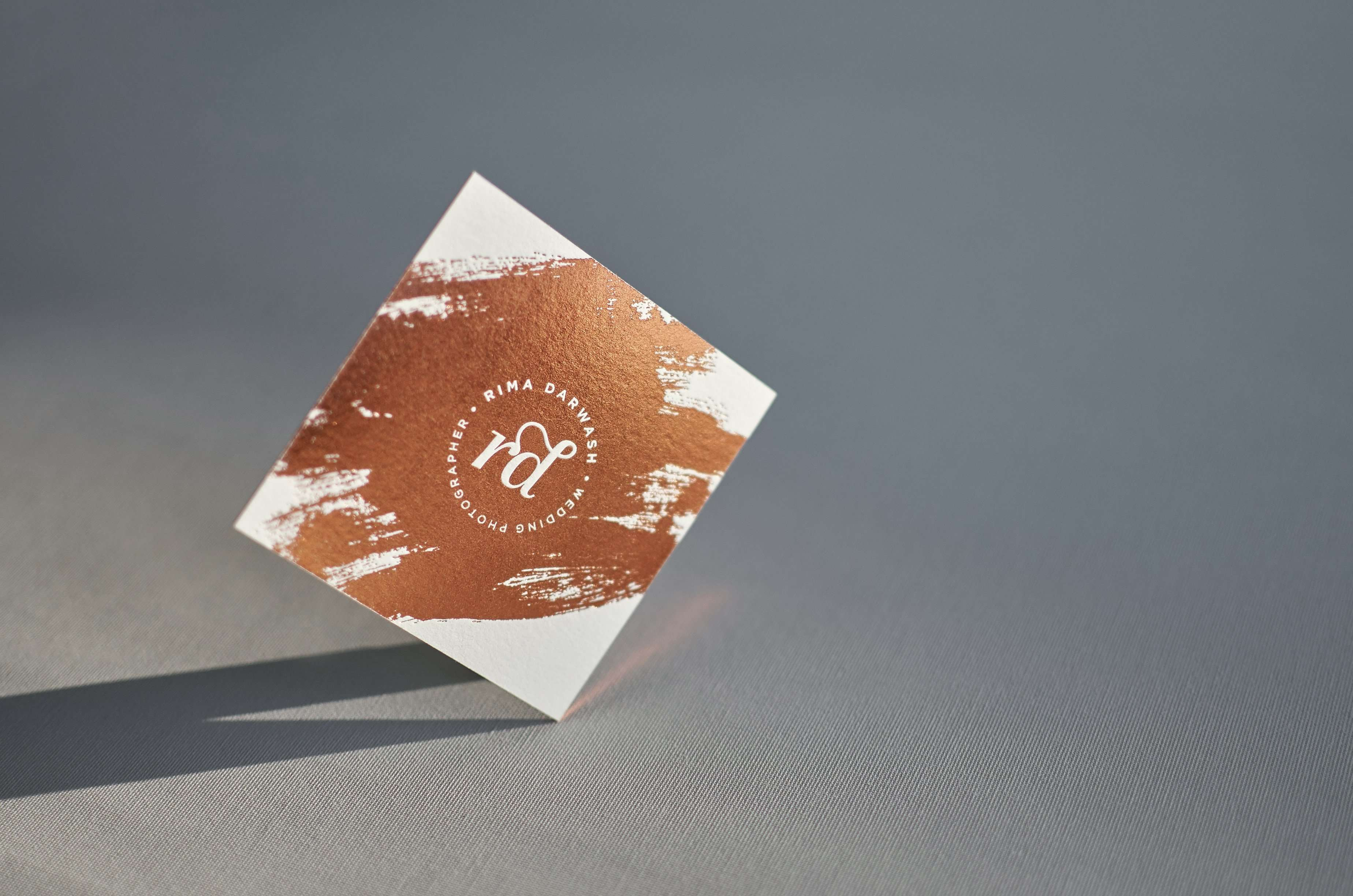Copper foiled square letterpress business cards elegante press copper foiled square business card online 0 magicingreecefo Image collections