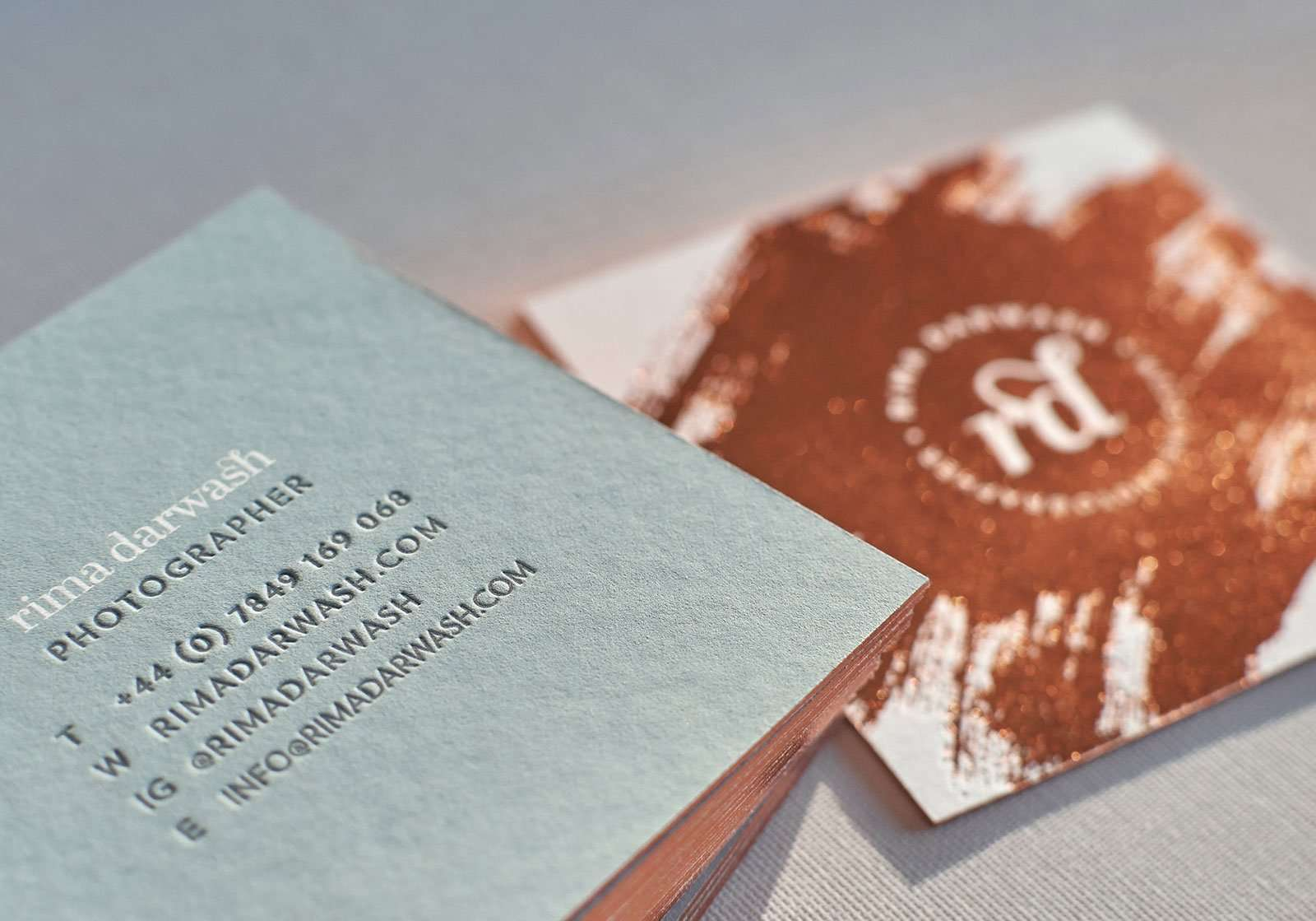 Copper foiled square letterpress business cards elegante press copper foiled square business card online 4 magicingreecefo Image collections