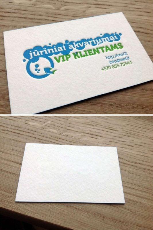 Letterpress bruising back card