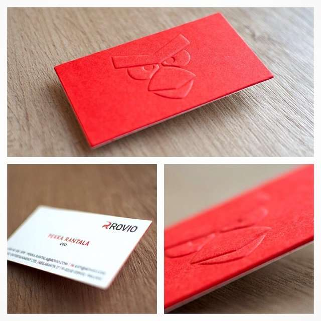 letterpress-business card with blind emboss