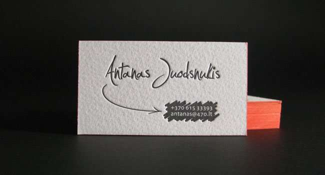 Personal letterpress name card ELEGANTE PRESS – Name Card