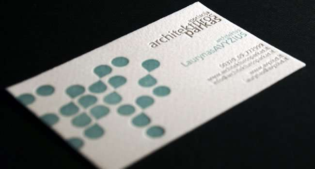 Business card for architect 1