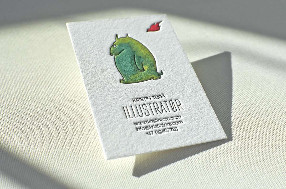 Hand Painted Business Card | Elegante Press