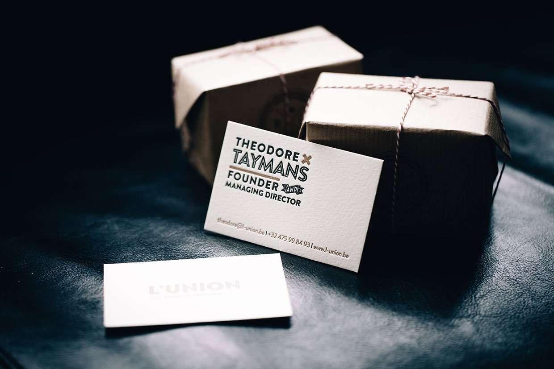 Duplexed letterpress business card : ELEGANTE PRESS ...
