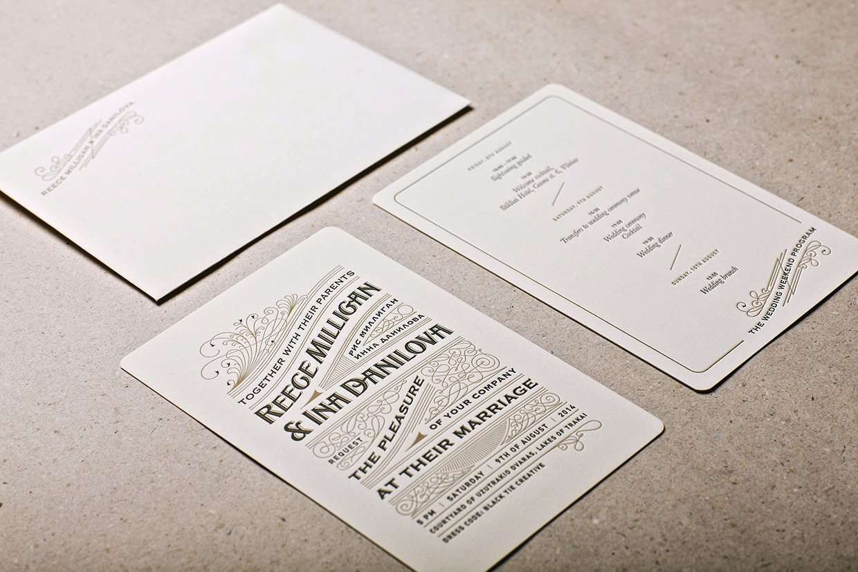 Royal letterpress wedding invitation elegante press for Letterpress wedding invitations manila philippines