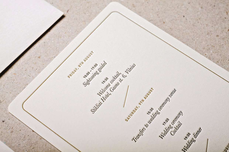 Letterpress Printing Wedding Invitations: Royal Letterpress Wedding Invitation